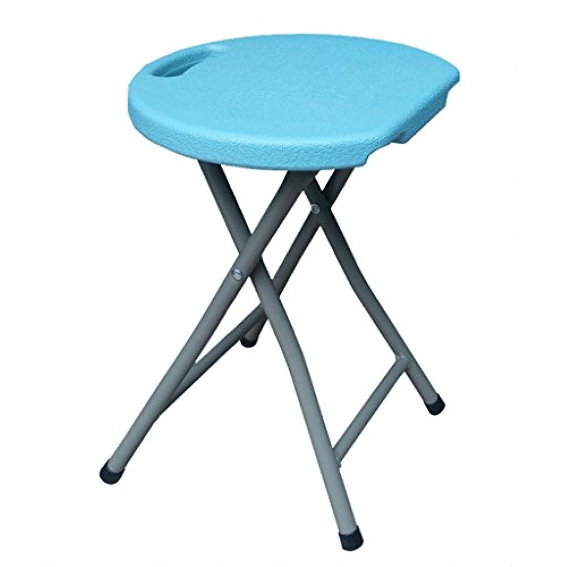 違うつまらない耐久チェア?テーブルアクセサリ 小さなスツールフットスツール座り心地は疲れていません350KGのスツールの重量に耐えることができますアウトドアレジャースツール (Color : Blue, Size : 45 * 33 cm/18 * 13inch)