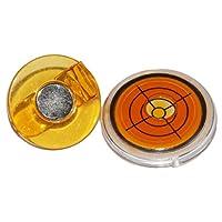 ゴルフ ツール 磁気ボールマーカー ハット クリップ アライメントツール ポータブル 全5カラー - オレンジ