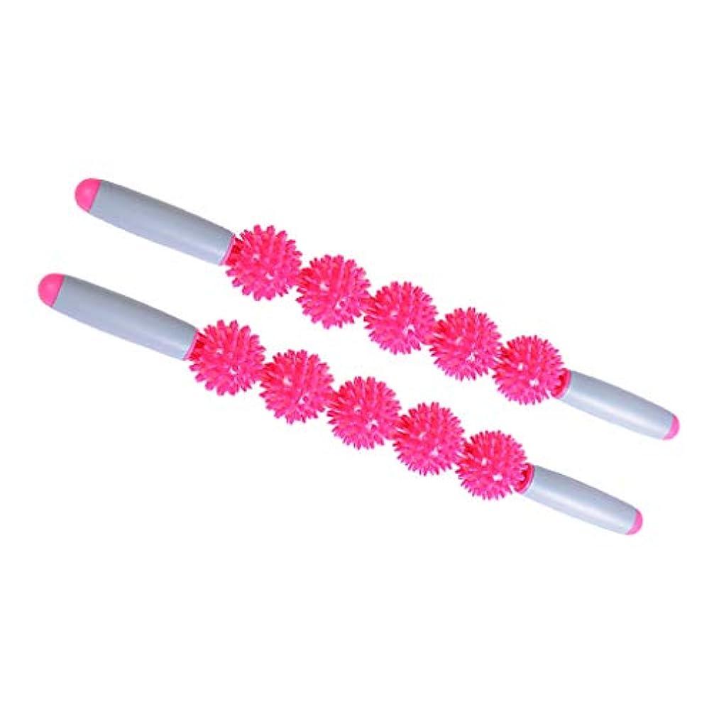 感じロープ周術期マッサージローラー マッサージスティック 5ボール トリガーポイント 筋膜リリース 携帯便利 2個入