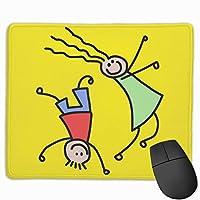 マウスパッド 漫画 子供 遊び 好き オフィス用 プリント 品質良い 柔らか 防水 耐久性 速乾性 レーザー&光学式マウス対応でき ズレにくい オシャレ