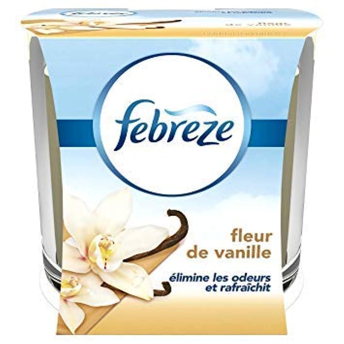 略奪本物主婦Febreze Duftkerze geruchshemmend Fleur de Vanille 100 g - Lot de 2