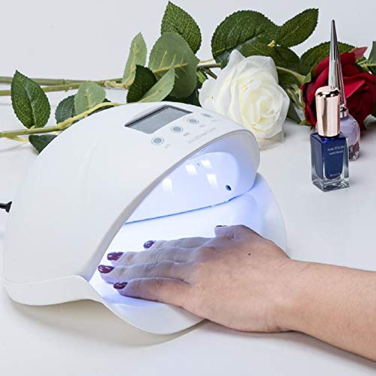 それ租界言語Loritar(ロリター)ジェルネイルドライヤー 硬化ライト UV と LEDダブルライト 手足両用 赤外線検知 タイマー三段階設定可50W 美白機能 日本語の説明書付き