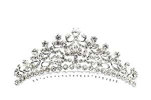[ティアラ] Tiara スワロフスキーラインストーン 前櫛 王冠