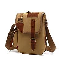Win8Fong BBK-6 Canvas DSLR Camera Bag Messenger Shoulder Bag//Grey