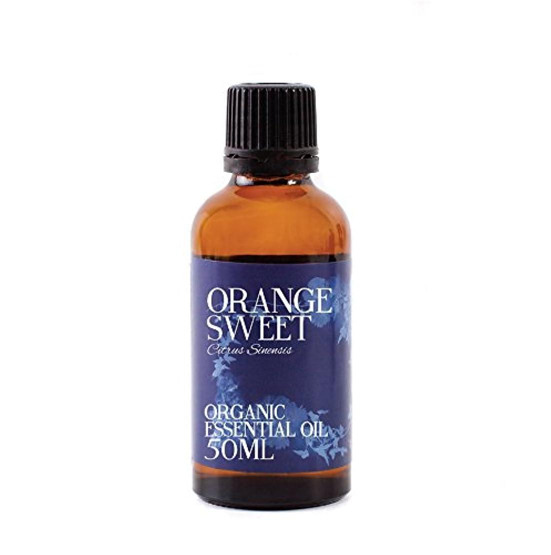 ますます財団すり減るMystic Moments | Orange Sweet Organic Essential Oil - 50ml - 100% Pure