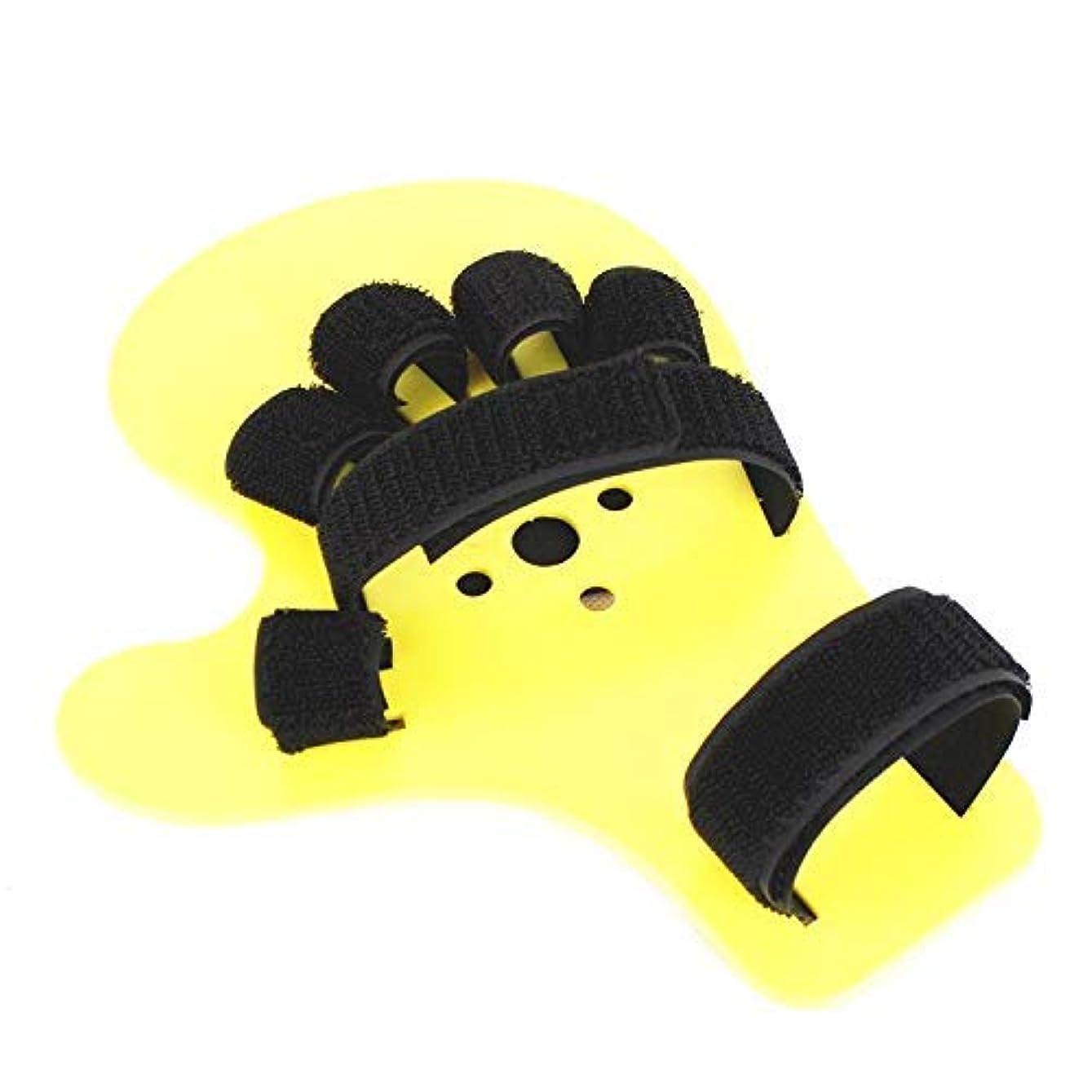 無視する変成器政治家フィンガーアライナ、フィンガートレーニングボードハンドスプリントフィンガーボード、左右両用、つぶれ防止フィンガーセパレータ、片麻痺(1個)
