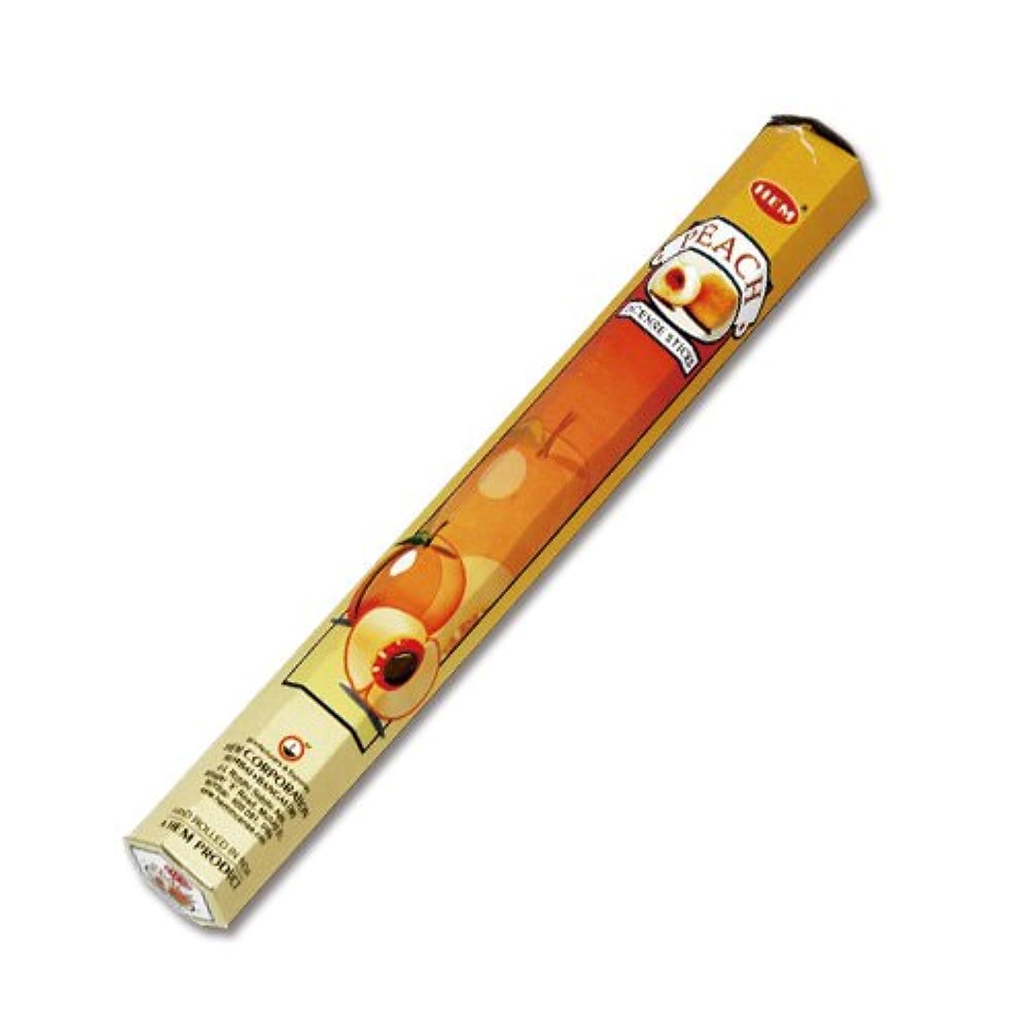 肥満食べる立法HEM (ヘム) インセンス スティック へキサパック ピーチ 6角(20本入)×1箱 [並行輸入品]