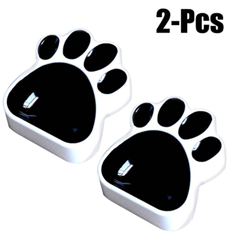 Legendog ペット ボウル 可愛い 肉球の型 猫 食器皿 滑り止め ネコ フードボウル 器 子犬 ウォーターボウル 子猫 お皿 餌入れ ブラック ホワイト プラスチック