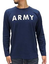 [アルファ インダストリーズ] Tシャツ メンズ ミリタリー 長袖 ロンT ロゴ ARMY アーミー 陸軍