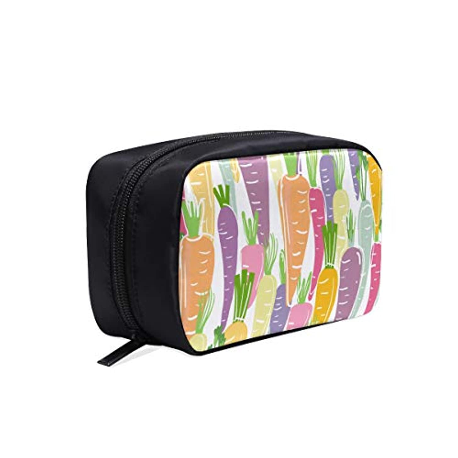 計算ダイアクリティカル会話型MDKHJ メイクポーチ パリパリにんじん ボックス コスメ収納 化粧品収納ケース 大容量 収納 化粧品入れ 化粧バッグ 旅行用 メイクブラシバッグ 化粧箱 持ち運び便利 プロ用