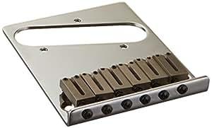 Fender パーツ 6-Saddle American Series Telecaster® Bridge Assembly,Chrome