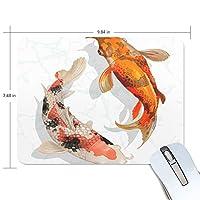 マウスパッド 鯉魚 さかな ラッキー 光学式マウス対応 防水 滑り止め生地 ゴム製裏面 軽量 耐久性 携帯便利 ノートパソコン用 オフィス用 快適 プレゼント