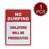 Aspire Aluminiumダンピング違反のない人は 起訴されるでしょう UV印刷と耐候性 - No Dumping/1個入り - 25.40cm W x 35.56cm L
