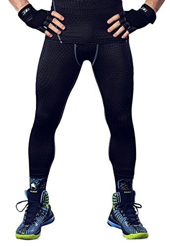 (オナー)HONOUR メンズ スポーツタイツ コンプレッションウェア MA22 ブラック+グレー S