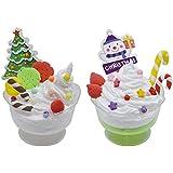 ゴシレ Gosear 面白いDIYのクラフトクリスマスアイスクリームデザートPlasticineモデリングクレイPlayset子供教育玩具キッズアダルトストレス救済おもちゃ白