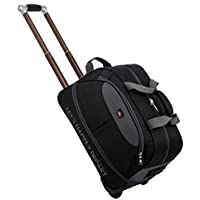 Waterproof Suitcase Bag Thick Style Kids Rolling Luggage Trolley Case Women&Men Travel Bags Carry On with Wheels (Color : Black, Size : Large)