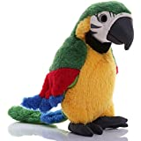 Talking Parrot Toy Macaw Parrot Kids Teens Plush Stuffed Toys Animal Plush Toy Repeat What You Say Stuffed Parrot Pet Toy Plu