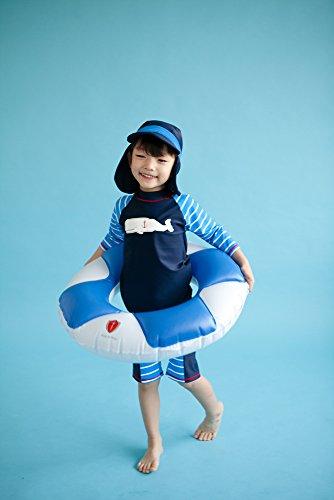 [VaenaitBaby]2-9歳ラッシュガード水泳スイムウェアベビー子供水着上下セットMarineWhaleM