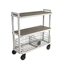 Atlantic Cart System 3 Tier Cart with powder coated steel frame, White