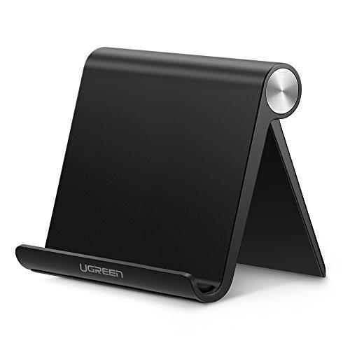 UGREEN タブレットスタンド 卓上 スマホホルダー iPadスタンド 折りたたみ式 角度調整可能 4-10インチに対応 滑り止めゴム付き iPad Pro,iPhone 11 Pro Max,Xperia,Huawei mediapad,Galaxy等のスマホやタブレットに適用 ABS素材