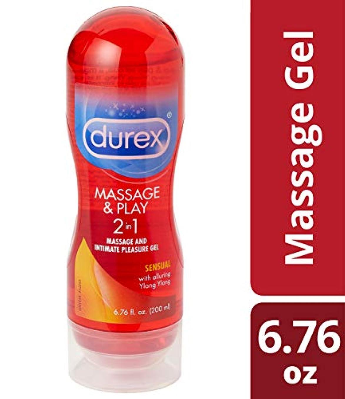 病者速度独創的【マッサージジェル兼ラブリカントジェル(潤滑ジェル)】Durex Massage and Play Sensual 2in1 Lubricant - Ylang Ylang, 6.7 Ounce イランイランの香り
