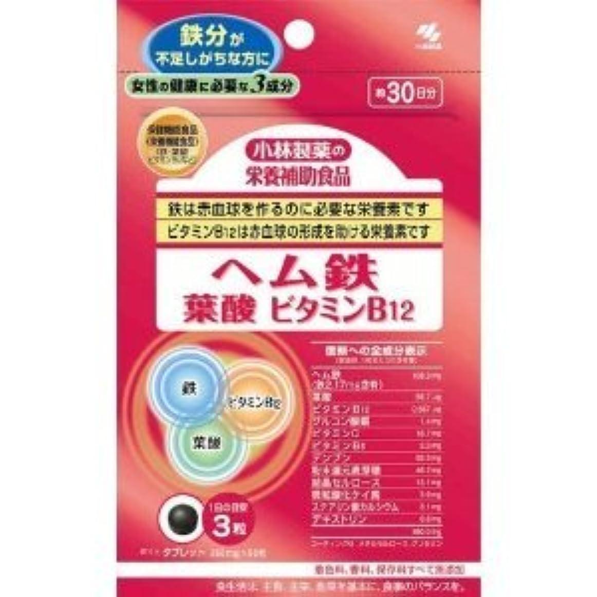 遊び場そこ発症小林製薬の栄養補助食品ヘム鉄葉酸ビタミンB12(90粒)×4個セット