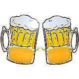 Toyvian クリエイティブなビールマグカップメガネオーバーフロービールカップアイメガネのコスチュームパーティーステージ3本表示