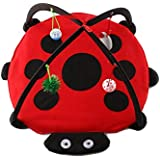 Foldable Pet Cats Bed Mobile Playing Tent Kitten Activity Pad Play Toys House Mats Outdoor(Style:Butterfly,Zebra,bee,Beetle)