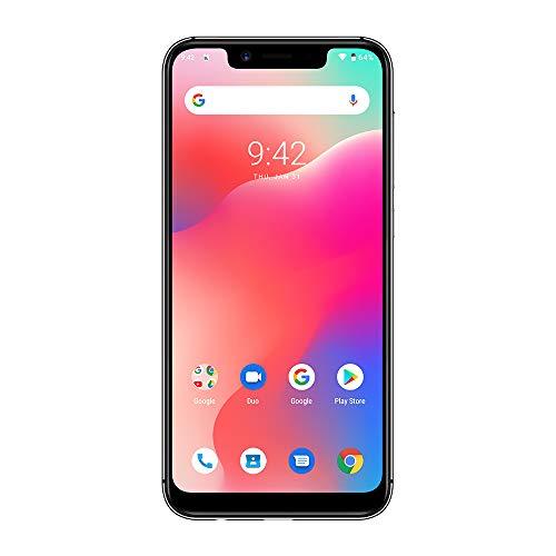 UMIDIGI A3 Pro Updated Edition SIMフリースマートフォン Android 9.0 2+1カードスロット 5.7インチ アスペクト比19:9 12MP+5MPリアデュアルカメラ 8MPフロントカメラ グローバルLTEバンド対応 両面2.5D曲線ガラス 3GB RAM + 32GB ROM(256GBまでサポートする) 顔認証 指紋認証 技適認証済み au不可 (グレー)
