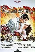 Gone With The WindイタリアClark Gable大きなヴィンテージ紙の映画ポスターは40x 27インチ( 100x 70cm )約