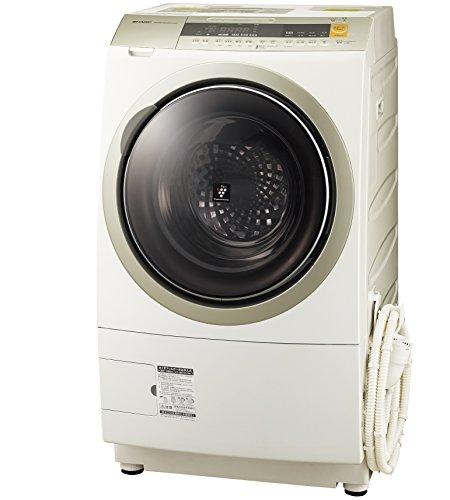 シャープ 洗濯乾燥機 ドラム式 プラズマクラスター搭載 10Kg 右開き ゴールド ES-ZP1-NR