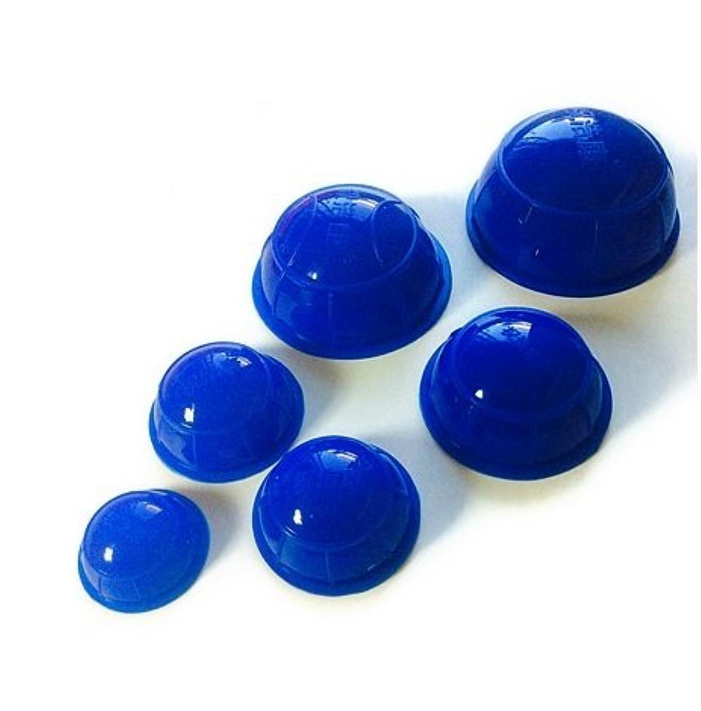 小川癒す獲物簡易 吸い玉6個セット ブルー 大中小5種類の大きさ