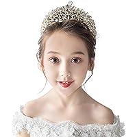 Tiara Kids Crown Headdress Princess Girl Crown Crystal Headband Birthday Hair Accessories
