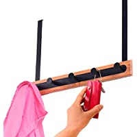 ウォールハンガー 5フック穿孔を避けてくださいインストールを避けてください長さ41 *幅25cmステンレススチール(2つのスタイル、2色可能) TINGTING (色 : B-ブラック)