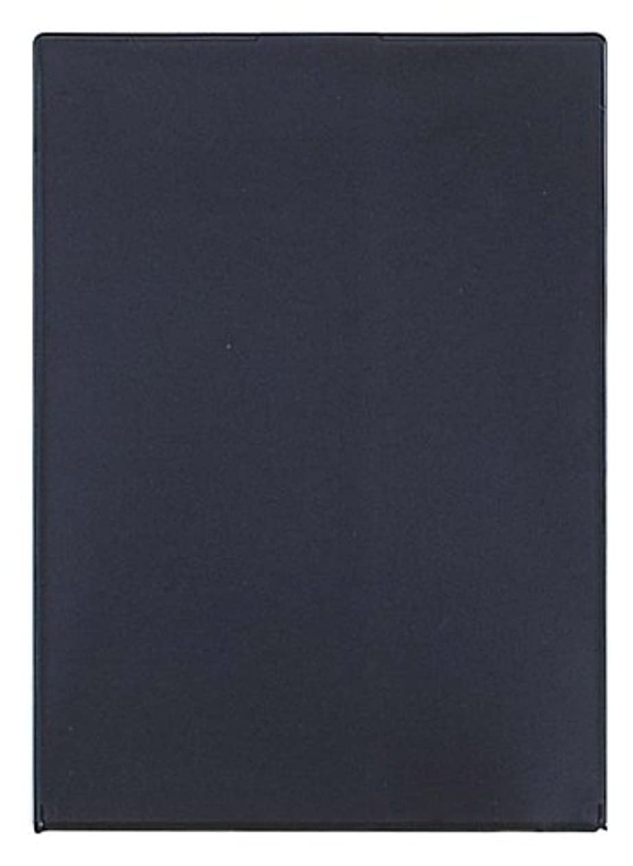 の前で昇進話すビブレ角型コンパクトミラーLL ブラック Y-1207