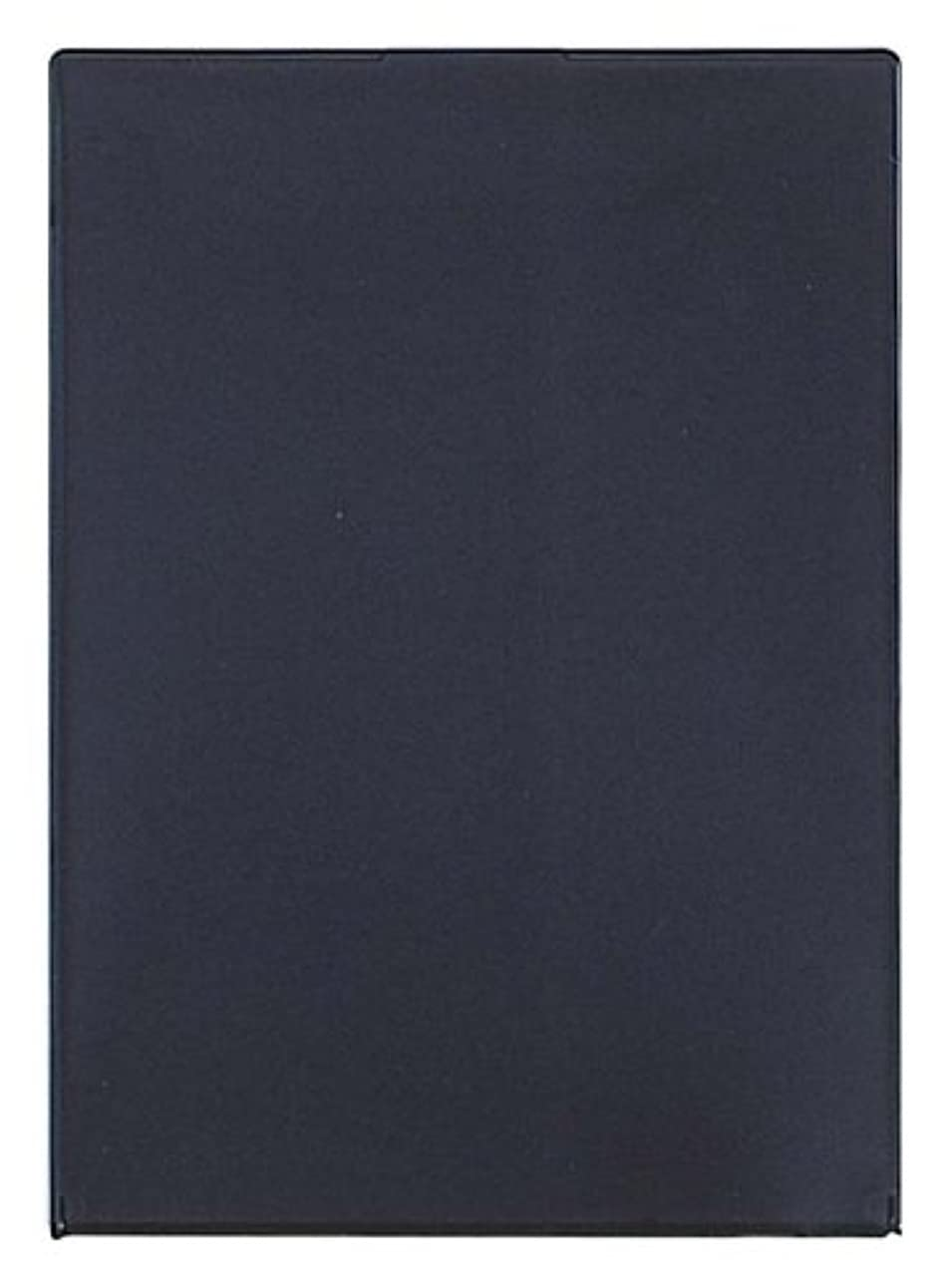 名義で固有のくしゃくしゃビブレ角型コンパクトミラーLL ブラック Y-1207