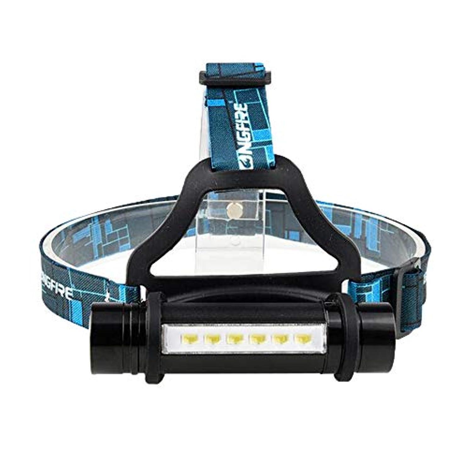 アロングどれ資本ZMAYASTAR LEDヘッドライト 3点灯モード 登山 夜釣り アウトドア作業 SOSフラッシュ機能 単4/18650電池対応(バッテリーなし) MU-29