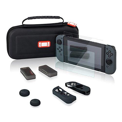Nintendo Switch ハードケース キャリングケース ポーチ 収納バッグ ニンテンドースイッチ専用ガラスフイル...