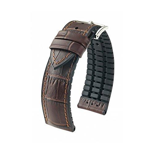 [HIRSCH]ヒルシュ 腕時計 革 ベルト ポール 3.ブラウン 24mm 尾錠色:シルバー