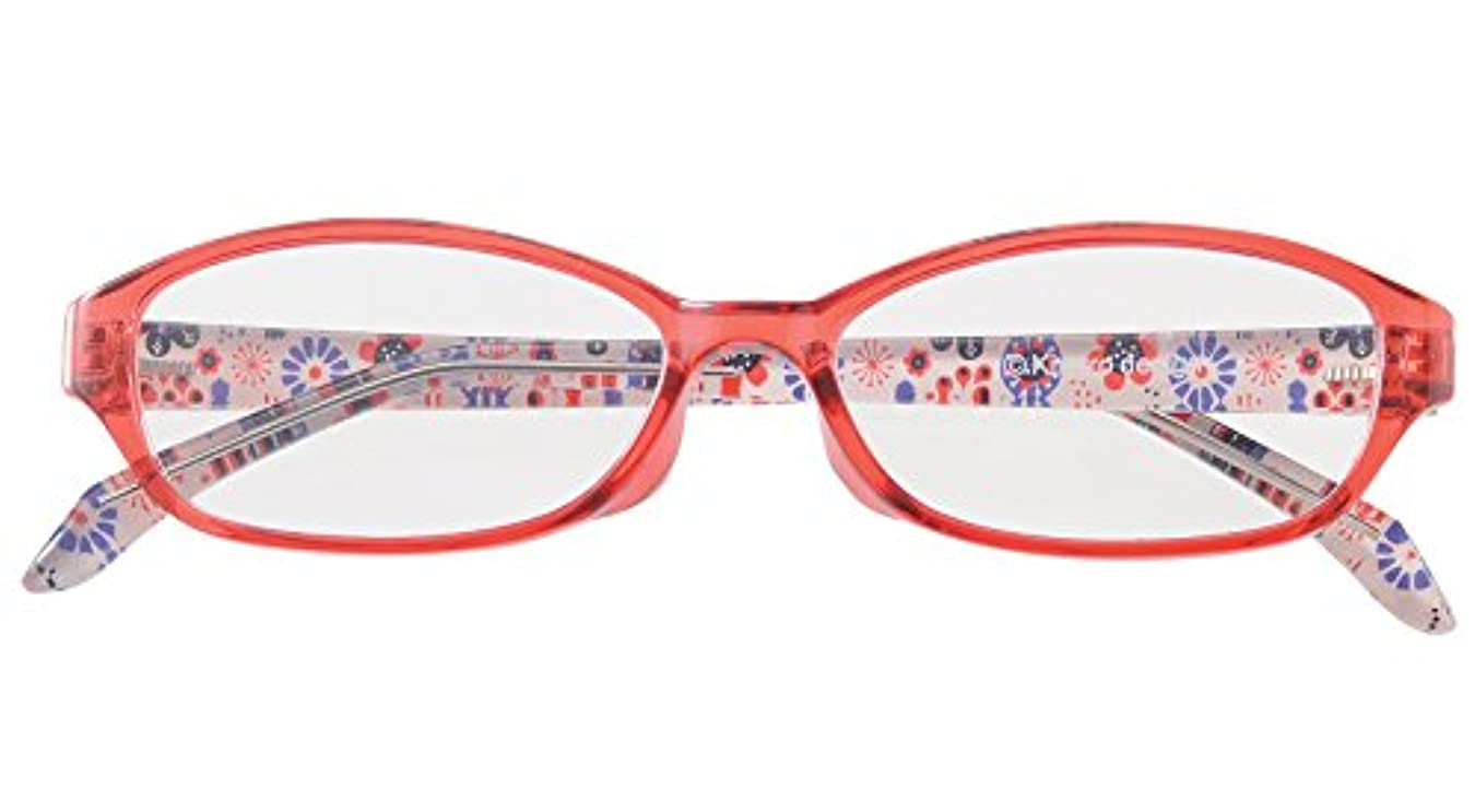 百万シダ虚偽北欧デザインのオシャレな老眼鏡 ブルーライトカット KINPRO ライブラリー 5024 +2.50