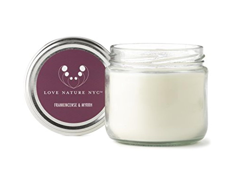 流出大臣かりて自然Soy Candle Jar、クリーン燃焼非毒性、完璧クリスマスや休日ギフト、Love Nature NYC 60 Hours Jar パープル