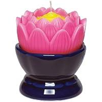 マルエス 蓮の花 大 ピンク 燭台付