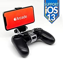 Mobile Phone Controller Clip Holder Mount - for iOS 13 Arcade Game Smartphone cellphones Foldable Bracket Adapter Clamp, Compatible with PS4 Dualshock, Gamepad, Joystick by Reseeda (PS4)