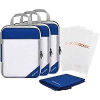 Gonex Compression Packing Cubes Set, Travel Suitcase Luggage Organizer 3pcs+ Shoe Bag+ 4 Zip Bags