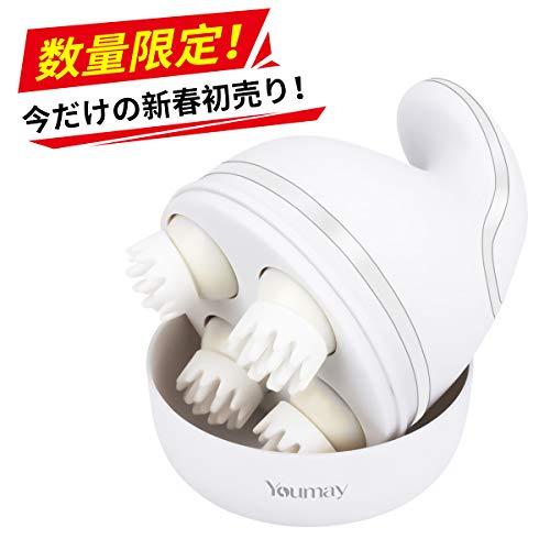 Youmay 頭皮・ヘッドマッサージャー(新揉捏法) 電動 ヘッドマッサージ器 頭皮マッサージ器 音波振動 指圧風 頭皮ブラシ 抜け毛 ヘッドスパ 発毛促進 3Dフェイス・額・ヘッド・首・肩 全身 マッサージ器 USB充電式 ワイヤレス マッサージャー 人気 血行促進 頭皮ケア 疲れやストレス緩和 使いやすい 静音 3D按摩ヘッド 睡眠・頭痛改善 携帯便利 日本語説明書付き 父の日 母の日 敬老の日 クリスマス プレゼント