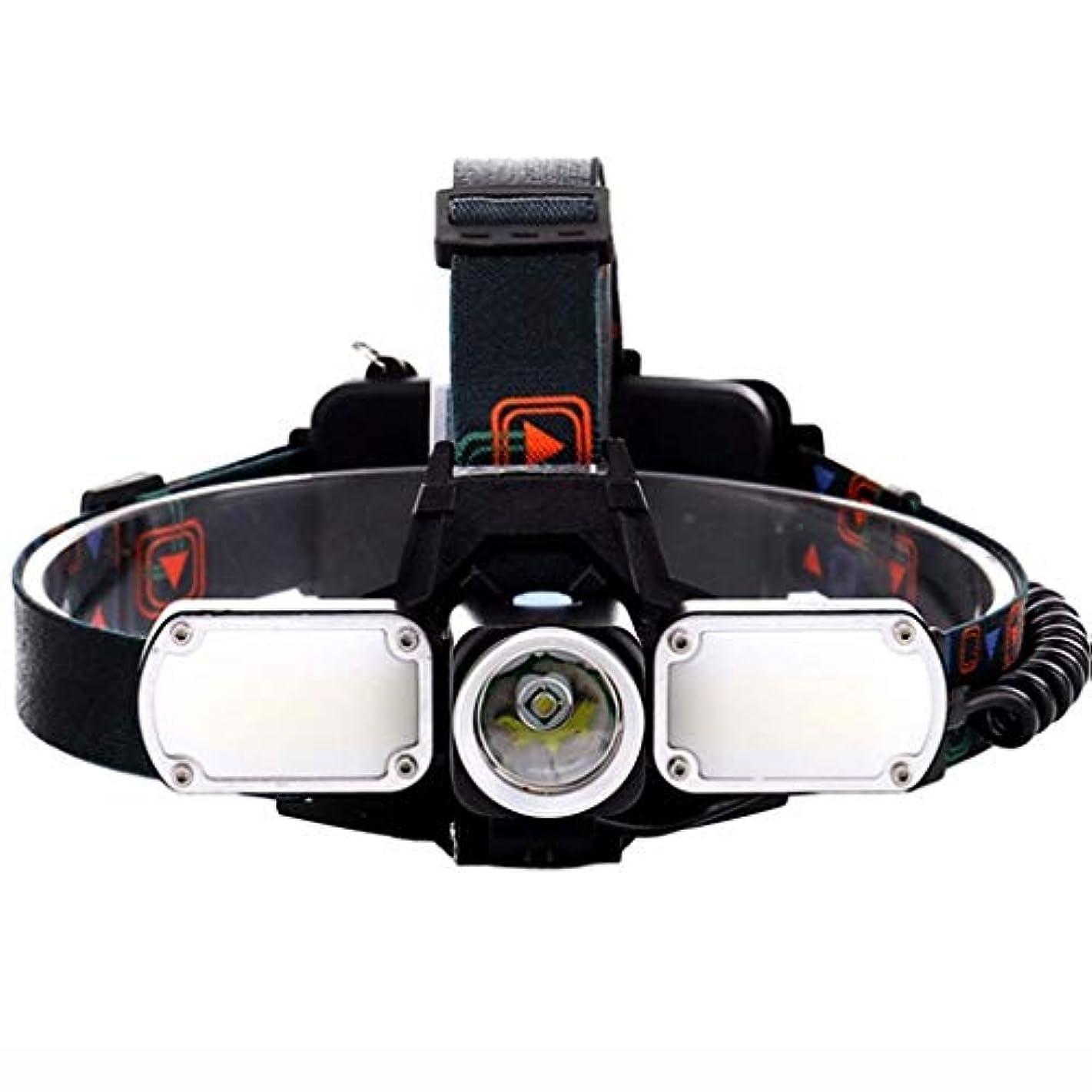 近くアデレード犬YDXYZ LEDヘッドランプヘッドライト、充電式防水ヘッドライト、多機能スーパーブライト登山釣り、クライミング、キャンプヘッドライト