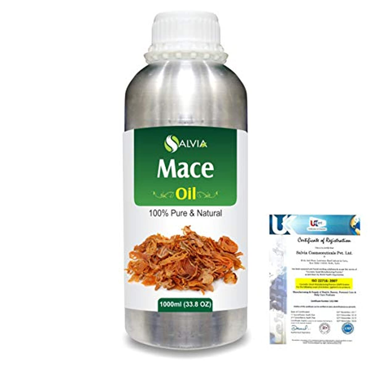 雪のくそーアンテナMace (Myristica fragrans) 100% Natural Pure Essential Oil 1000ml/33.8fl.oz.