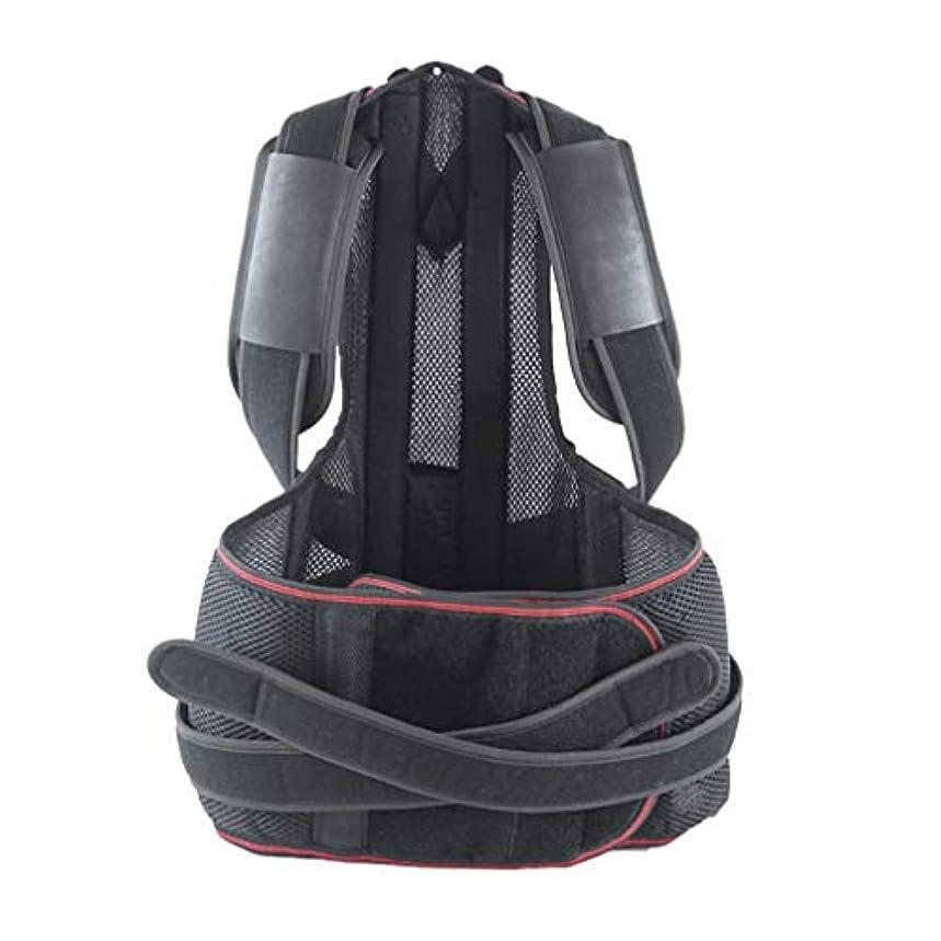 もっともらしい致命的な郵便屋さん軽量の姿勢補正装置の悪い腰部の肩サポート背中の痛みブレース-Rustle666