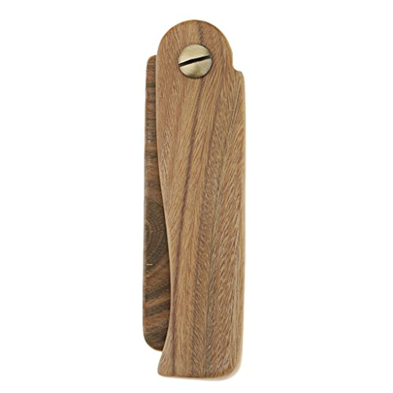 見物人架空の若さ木製櫛 ヘアブラシ ヘアコーム ポケットサイズ 折り畳み式 ひげ櫛 2タイプ選べる - A