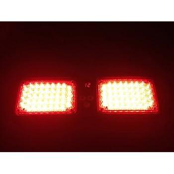高輝度 LED 86個使用の ストロボ フラッシュ ビーム ライト 車載用 / 点滅カラー 赤&赤